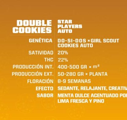 SensorySeeds Descripción Semillas Double Cookies Autoflorecientes