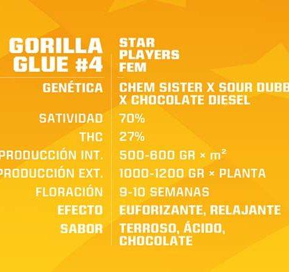 SensorySeeds Descripción Semillas Gorilla Glue Feminizadas