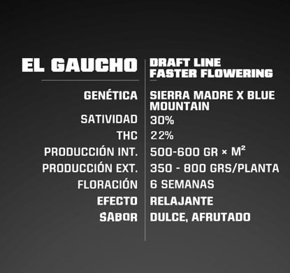 Informacion de semillas de floracion rapida El Gaucho