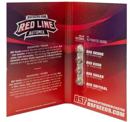 Paquete de semillas de marihuana Red Line Automix