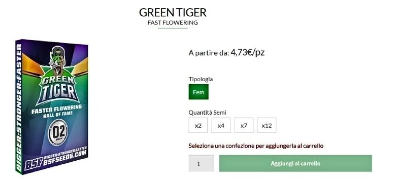 green tiger semillas autoflorecientes