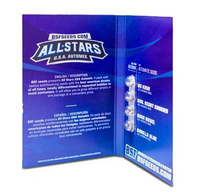Paquete de semillas de marihuana All Stars USA Automix